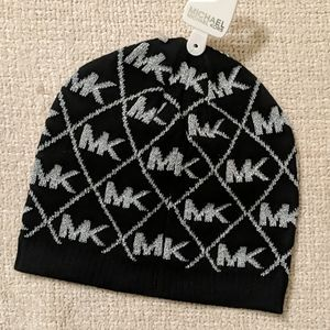Michael Kors beanie winter hat stamped MK one size